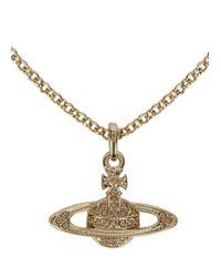 Vivienne Westwood - Metallic Mini Bas Relief Gold Tone Necklace - Lyst