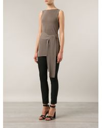 Jarbo | Natural Waist Tie Long Top | Lyst