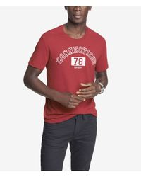 Express - Red Graphic Tee Connecticut 78 for Men - Lyst