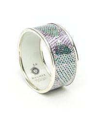 Wagner Arte | Multicolor Platinum Heart Bracelet | Lyst