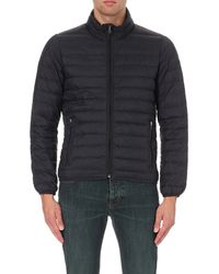 Armani Jeans Blue Quilted Down Shell Jacket for men
