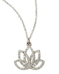 KC Designs | Metallic Diamond Lotus Flower Necklace | Lyst