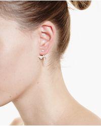Yvonne Léon - Metallic 18K Gold And Diamond Dragonfly Lobe Earring - Lyst