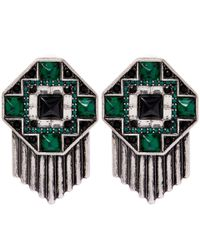 Lulu Frost | Green Silver-plated Vaulted Studs | Lyst