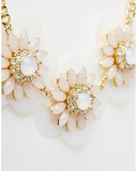 ASOS | Pink Sequin Stone Necklace | Lyst
