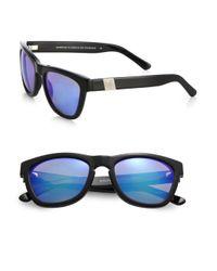 Westward Leaning - Mercury Seven Square Acetate Sunglasses/Black & Blue - Lyst