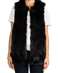 Juicy Couture | Bear Faux Fur Vest in Black | Lyst