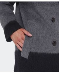 Paul by Paul Smith Gray Oversized Ombre Mohair Coat