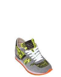Serafini | Yellow 20mm Leather Python Print Sneakers for Men | Lyst