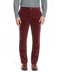 Vineyard Vines Red Straight Leg Stretch Corduroy Pants for men