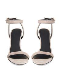 Alexander Wang - Natural Women's Antonia Suede Heeled Sandals - Lyst