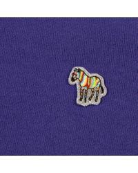 Paul Smith Purple Men's Violet Organic-cotton Zebra-logo Sweatshirt for men