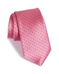 Ike Behar - Pink 'mogador Dot' Silk Tie for Men - Lyst