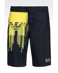 EA7 - Black Beach Bermuda for Men - Lyst