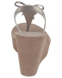 BCBGeneration | Metallic Hank Platform Wedge Thong Sandals | Lyst