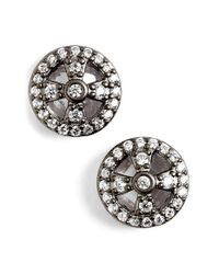 Freida Rothman | Metallic 'metropolitan' Small Stud Earrings | Lyst