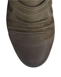 Cobb Hill | Gray Nadine Leather Slip-ons | Lyst