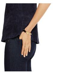 Tory Burch - Metallic Pearl & Metal Logo Stud Bracelet - Lyst