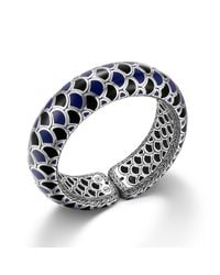 John Hardy - Scale Cuff With Black And Blue Enamel - Lyst