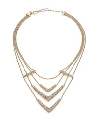 Alexis Bittar | Metallic Miss Havisham Mosaic Crystal Draped Snake Chain Bib Necklace | Lyst