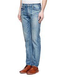 FDMTL Blue Slim-fit Straight Cotton Jeans for men
