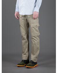 Woolrich Natural Fatigue Cargo Trouser for men