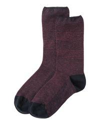 Toast | Blue Fine Jaquard Socks | Lyst