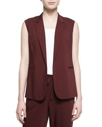 Theory - Red Adar Open-front Suiting Vest - Lyst