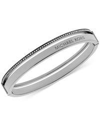 Michael Kors | Metallic Crystal Split Bangle Bracelet | Lyst