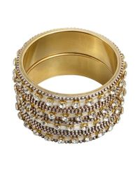 Chamak by Priya Kakkar | Metallic Set Of 2 Metal And Crystal Large Bangles | Lyst