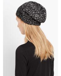 VINCE | Black Multicolor Knit Beanie Hat | Lyst