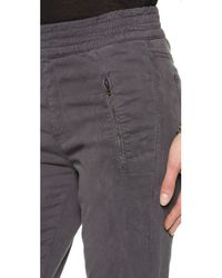 7 For All Mankind Gray Soft Pants with Cuffed Hem Grey