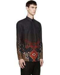 Givenchy - Black Poplin Degrade Shirt for Men - Lyst