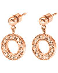 Folli Follie - Pink Classy Drop Earrings - Lyst