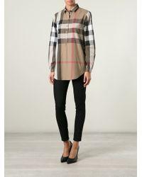 Burberry Brit - Brown 'nova Check' Shirt - Lyst