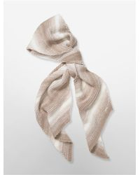 Calvin Klein | Natural White Label Marled Knit Scarf | Lyst