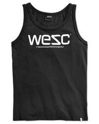 Wesc | Black Solid Logo Tank for Men | Lyst