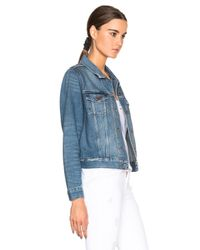 J Brand - Blue Gene Shrunken Jacket - Lyst