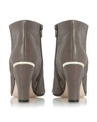Dune Brown Olsenn High Block Heeled Ankle Boots