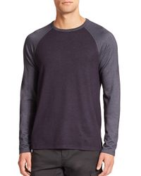 Saks Fifth Avenue | Blue Raglan-sleeve Crewneck Tee for Men | Lyst