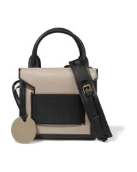 Pierre Hardy - Natural Two-tone Textured-leather Tote - Lyst