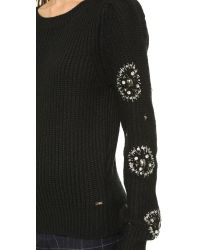 Line & Dot Phoebe Embellished Sweater - Black