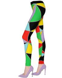 Fausto Puglisi Multicolor Printed Lycra Leggings