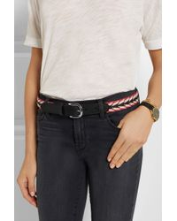 Étoile Isabel Marant - Black Uma Embroidered Leather Belt - Lyst