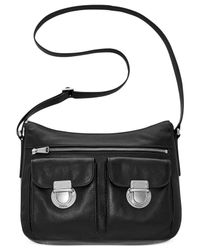 Fossil - Black Riley Leather Hobo - Lyst