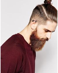 ASOS Metallic Ear Cuff Pack With Skeleton Cuff for men