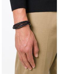 Paul Smith | Black Woven Leather Bracelet for Men | Lyst