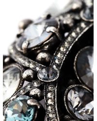 Lanvin | Metallic Moon Brooch | Lyst