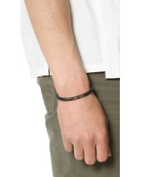Cause and Effect | Black Painted Copper Cuff for Men | Lyst