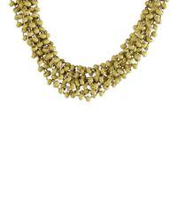White Stuff - Metallic Mossy Short Necklace - Lyst